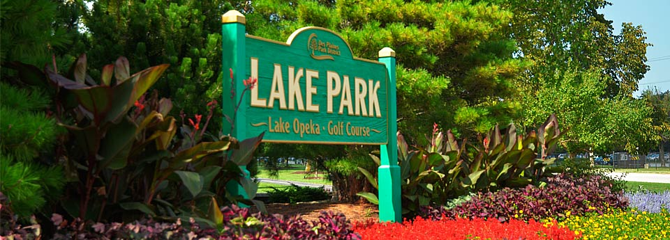 Our offices are right across the street from Lake Opeka Park and golf course