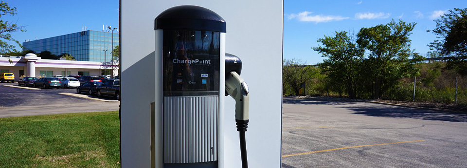 If you have an electric car we offer CharePoint Stations